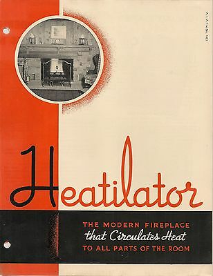 Heatilator Fireplaces 1938 Catalog