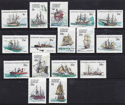 1979-82 AAT Definitives Ships of The Antarctic  MUH - Complete Set