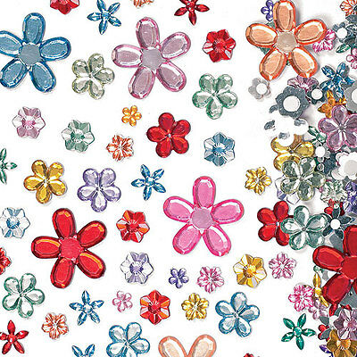 Self Adhesive Acrylic Flower Jewels for Kid's Collage & Card Making(Pack of 180)
