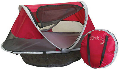Kidco PeaPod Portable Infant Child Travel Bed Tent Cranberry w/ Carry Case NEW