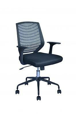 Black Ergonomic Mesh Computer Office Desk Task Midback Task Chair Metal Base 22