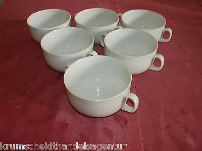 6 Eschenbach Suppentassen,Suppentasse,Tasse,weiß, Ø10cm,H=6cm