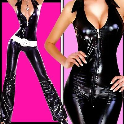 SeXy DOMINA Pussycat HOT Overall SCHLAG glanz LACK LOOK