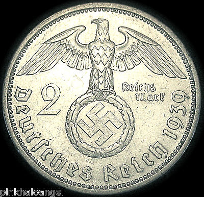 Germany - German 3rd Reich - German 1939A Silver 2 Reichsmark Coin - GREAT COIN