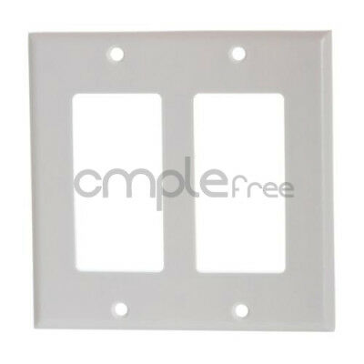 Double Gang White Decora Wall Plate 2 Gang White NEW