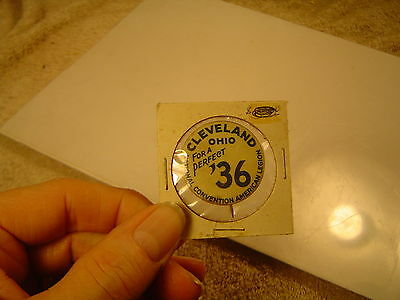 Vintage 1936 American Legion National Convention pinback-Cleveland, Ohio.