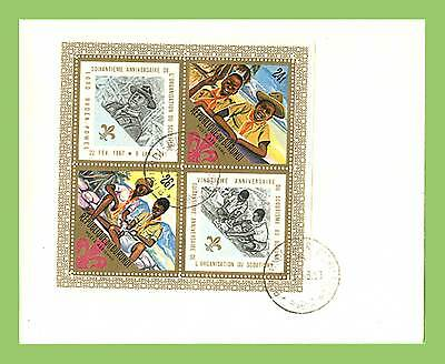 Burundi 1968 Scouts perf miniature sheet First Day Cover