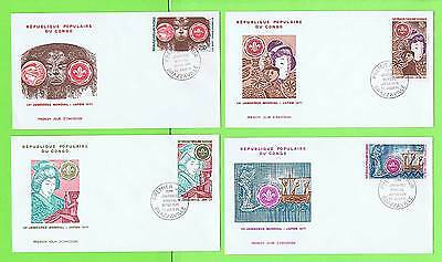 Congo 1971 Scout set on Four First Day Covers
