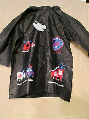 Rock A Bye,navy, Rescue Chief  Hooded Raincoat , Age 12 Month