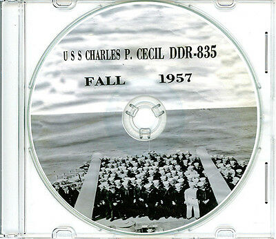 USS Charles P Cecil DDR 835 1957 Cruise Book CD