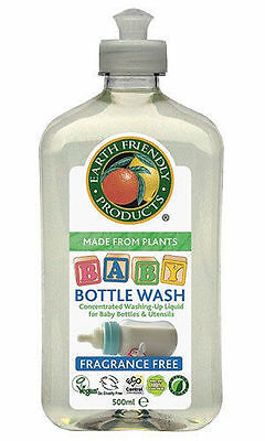 Earth Friendly Products Concentrated Baby Bottle Teat Wash 500ml Fragrance Free