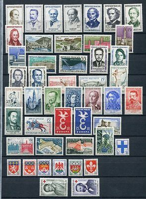 FRANCE 1958 MNH COMPLETE YEAR 47 Stamps