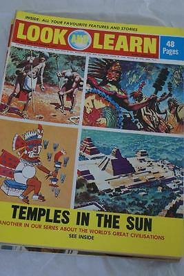 LOOK & LEARN No 557. 16th September 1972. Temples in the Sun