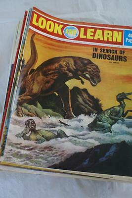 LOOK & LEARN No 541 May 27 1972.In search of Dinosaurs/New Guinea tribes