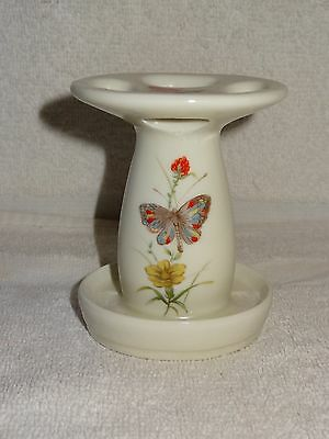 Takahashi Hand Painted Butterfly Theme Porcelain Toothbrush Holder- Japan
