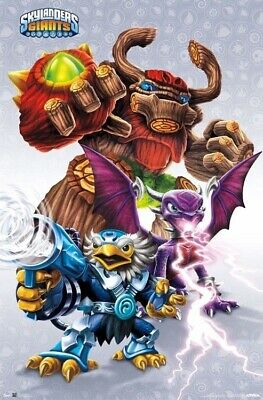 SKYLANDERS SUPERCHARGERS ~ CHARACTERS ~ 24x36 Video Game Poster ~ BRAND NEW!