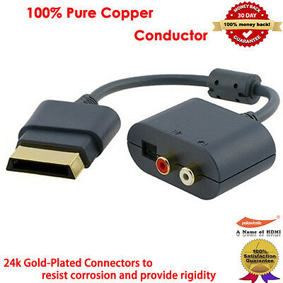 Optical Audio Adapter for Xbox 360 HDMI AV Cable