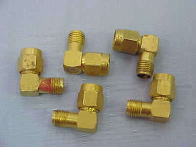 Lot of 5 SMA 90˚ Angle RF Adapter DC-18GHz Gold-Plated