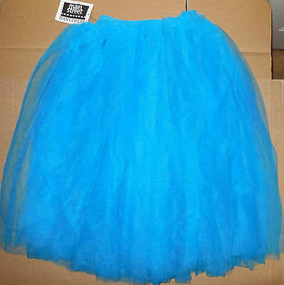 NEW MId Length Romantic Tutu Turquoise w/ attached trunks Adult/Child Sizes