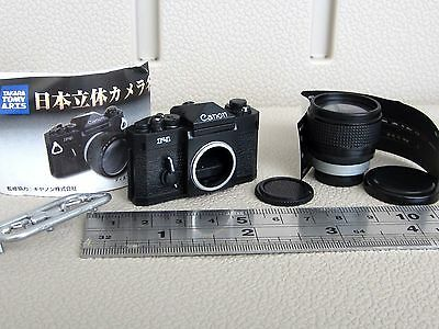 RARE MINIATURE CANON F-1 F1 PLASTIC TOY MODEL CAMERA + FD 85MM F1.2L SSC LENS