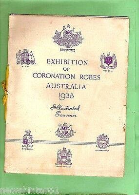 #d116.  1938 Australian Booklet For Exhibition Of Coronation Robes