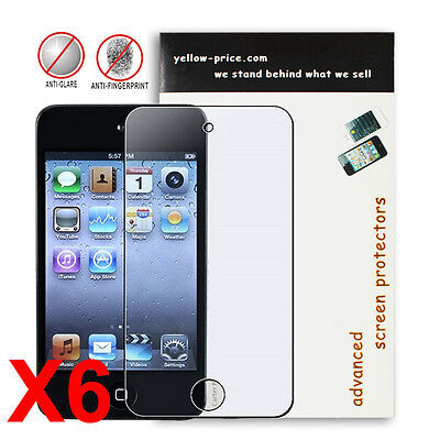6x Premium JAPANESE FILM,Anti-glare/Matte Screen Protector for iPod touch 4th