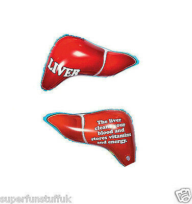 """13"""" Inflatable Liver Organ Body Part - Blow Up Joke Educational Toy Kids Gift"""