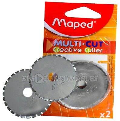MAPED MULTI CUT A4 CREATIVE CUTTER 45mm PERFORATION BLADES PACK OF 2 (089155)