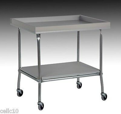 High Quality Steel Cart with Plastic Laminate Top Tray & Shelf  - USA Made!