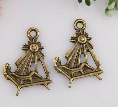 20pcs bronze plated Sun bather lounge chair charms 25x18mm 1A562