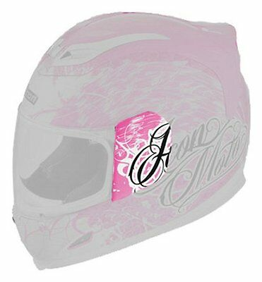 Icon Repl Side Plate Kit for Womens Airframe Street Angel Full Face Helmet Pink