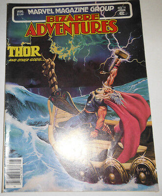 Bizarre Adventures Magazine Thor And Other Gods No.32 August 1982 061414R