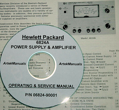 Hp  6824A Power Supply & Amplifier Operating &  Service Manual