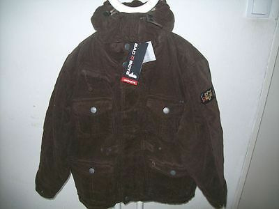 BAD BOYS coole braune Winter Cordjacke Gr. 140-164 NEU