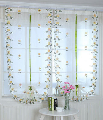 1 Pcs High-grade Pulling Curtain Balloon Embroidery Curtains Rome Curtains