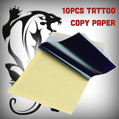 10 X Tattoo Transfer / Thermal / Carbon / Stencil Paper Uk