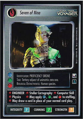 Star Trek CCG 1E Reflections Seven Of Nine Case Topper FOIL Mint