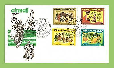 Papua New Guinea  1982 Foods set First Day Cover
