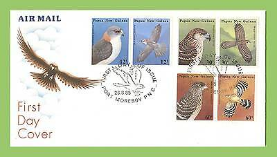 Papua New Guinea 1985 Birds set on First Day Cover