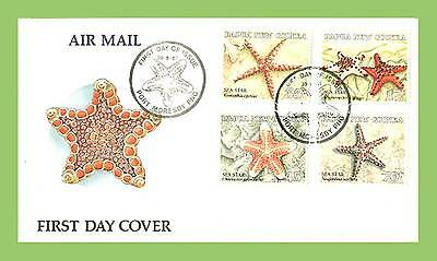 Papua New Guinea 1987 Starfish set First Day Cover