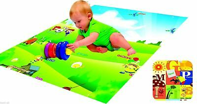 PLAY MAT 130cm x 180cm BABY TODDLER CHILDREN DOUBLE SIDED FOAM PADDED WITH CASE