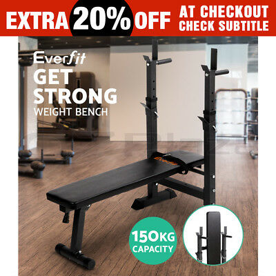 Everfit Adjustable Multi-Station Weight Bench Fitness Gym Home Squat Press