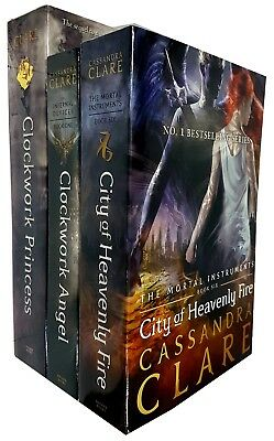 Cassandra Clare collection Mortal Instruments Series 3 Books Set