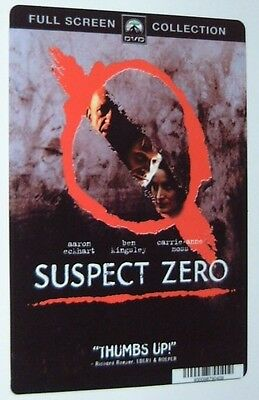 SUSPECT ZERO movie backer card BEN KINGSLEY, AARON ECKHART  - this is NOT a dvd