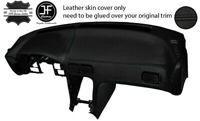 Black Leather Dash Dashboard Skin Cover Fits Nissan S13 200Sx 180Sx 88-93