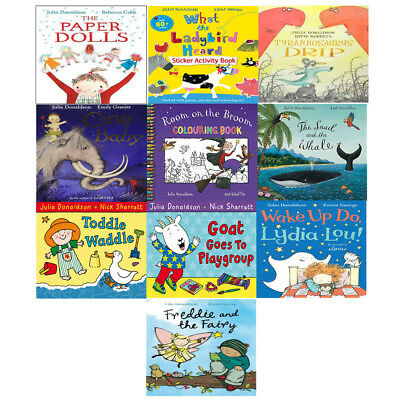 Julia Donaldson and Axel Scheffler Picture Book 10 Book Collection