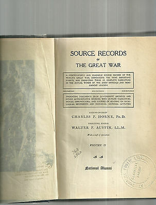 Source Records of the Great War Volume II WWI Book