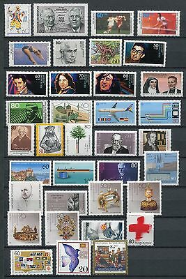 GERMANY 1988 MNH COMMEMORATIVES COMPLETE YEAR 36 Stamps
