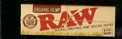 2 PACKS RAW 1 1/4 SIZE ORGANIC HEMP Natural Unrefined Cigarette Rolling Papers