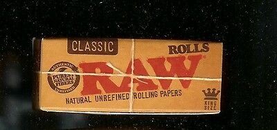 2X RAW 3 METER ROLL KING SIZE CLASSIC Natural Unrefined Cigarette Rolling Papers